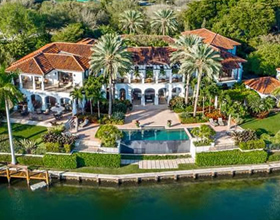 Luxury Vanderbilt Inspired waterfront mansion for sale in Coral Gables, Miami- $22,500,000