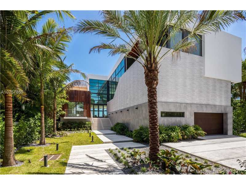 New Waterfront Luxury Home on Belle Meade Island - Miami Beach $8,695,000