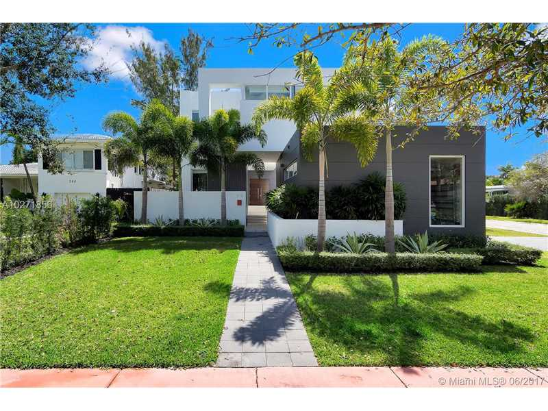 New Luxury Waterfront Home with Boat Dock in Miami Beach $5,200,000