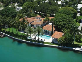 Mediterranean Waterfront Mansion For Sale on La Gorce Island $18,750,000