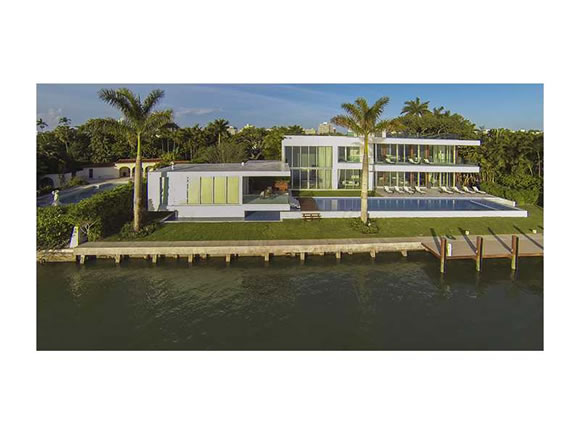 Waterfront Modern Mansion for sale on North Bay Road - Miami Beach- $37,000,000