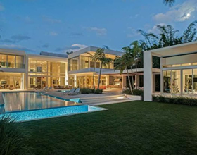 New Modern Estate on Exclusive and Secured Palm Island- $32,000,000